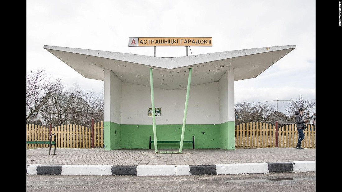 While the heyday of Soviet bus stops seems to have vanished along with the old political structures, Herwig says there's at least one designer, Armen Sardarov, still at work in Belarus after a career producing hundreds of shelters through the 1970s and 80s.