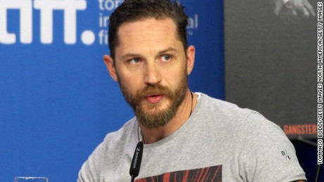 "TORONTO, ON - SEPTEMBER 13:  Actor Tom Hardy speaks onstage during the ""Legend"" press conference at the 2015 Toronto International Film Festival at TIFF Bell Lightbox on September 13, 2015 in Toronto, Canada.  (Photo by Tommaso Boddi/Getty Images)"