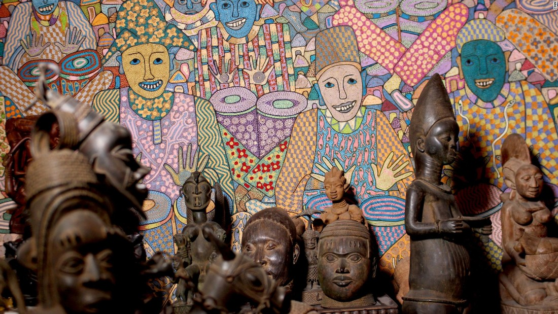 Shyllon, who believes contemporary African art makes for a good investment, is planning to open a private art museum.