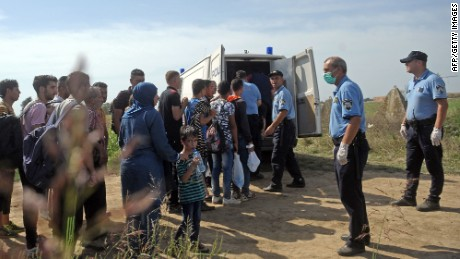 Migrants must make their own way into Europe