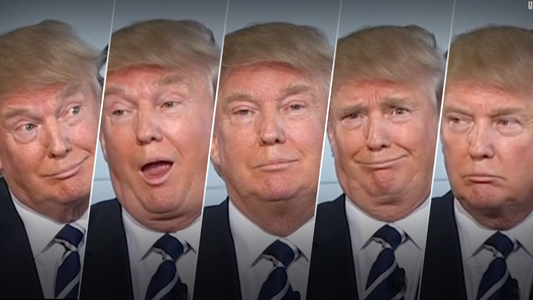 Many people on the Internet decided that GOP candidate Donald Trump is the most expressive person running for president. Here's a look at his many facial expressions: