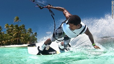 It'll take a few tries before you look this good kiteboarding.