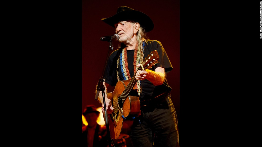 Now in his 80s, the singer and songwriter has since battled the IRS, recorded a number of well-received albums, expressed his fondness for marijuana and continued touring in his eco-friendly bus. The country legend is shown here in 2015.