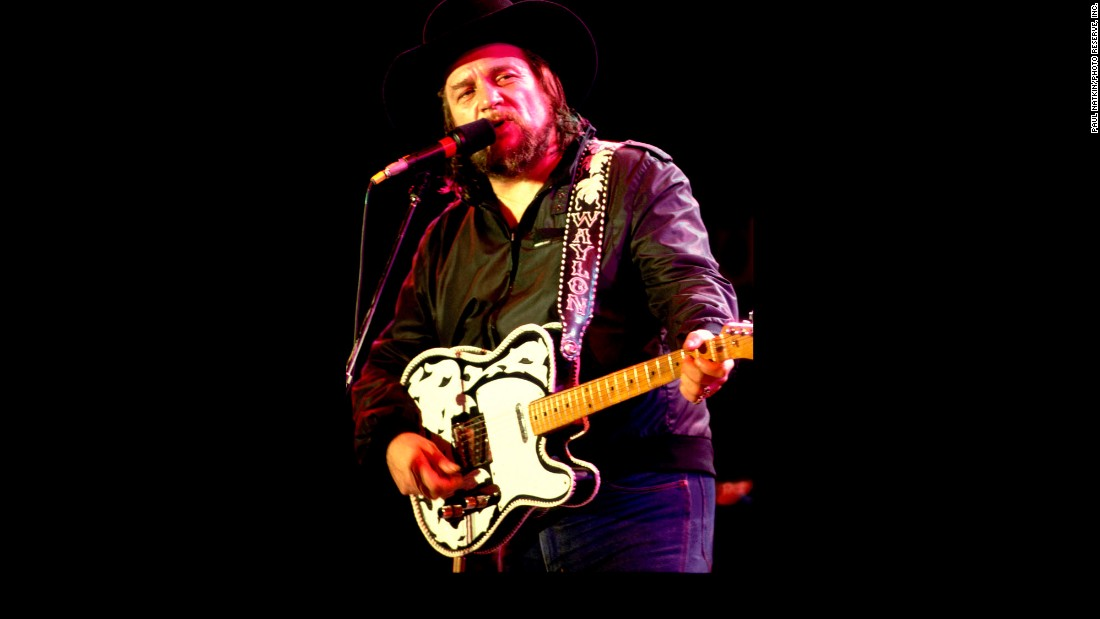 Waylon Jennings performing in July 1985 in Chicago. The singer-songwriter recorded 60 albums and had 16 No.1 country singles in a career that spanned five decades.