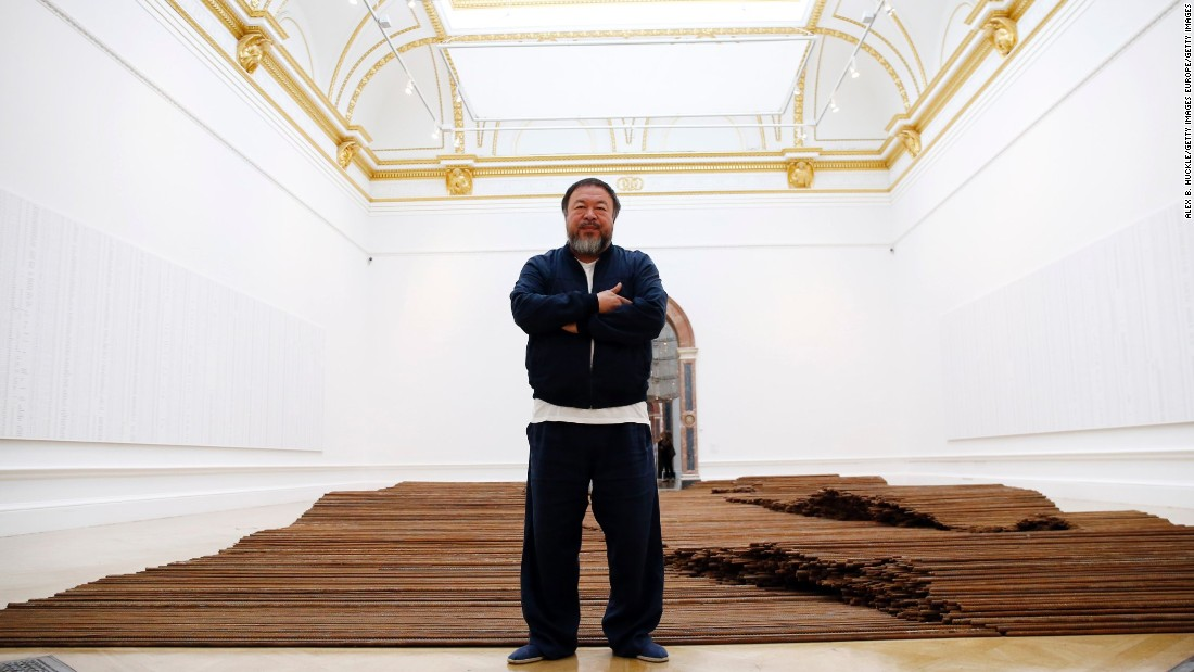 <em>Straight</em>, 2008-12. The work comprises 90 tons of steel rebars found at the site of the 2008 Sichuan earthquake where low quality building practices and government corruption were blamed for the deaths of over 5000 children in collapsed school buildings.