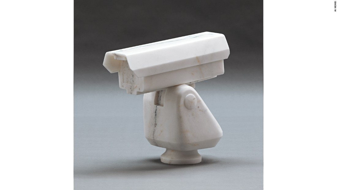 <em>Surveillance Camera</em>, 2010. Marble. The marble CCTV camera that has become a symbol of Ai's battles with government surveillance is on show. For many critics, this exhibition marks the moment that his well-rounded artistic output will be recognized alongside his activism.