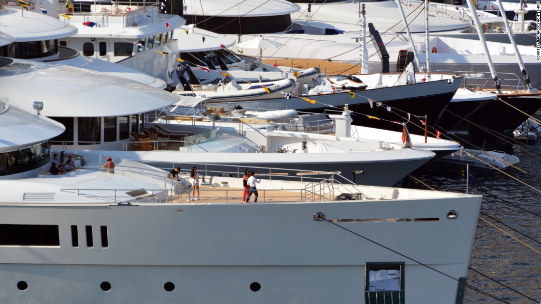 "The total value of the superyachts on show, is estimated at <a href=""https://twitter.com/mys_monaco/status/645603205141762049"" target=""_blank"">€3 billion</a> ($3.38 billion)."