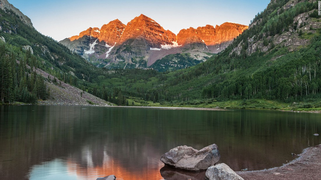 "The <a href=""http://edition.cnn.com/specials/travel/usa"">50 states</a> have plenty to offer, from road trips to beaches, from deserts to high peaks, like the Rocky Mountains in Colorado."