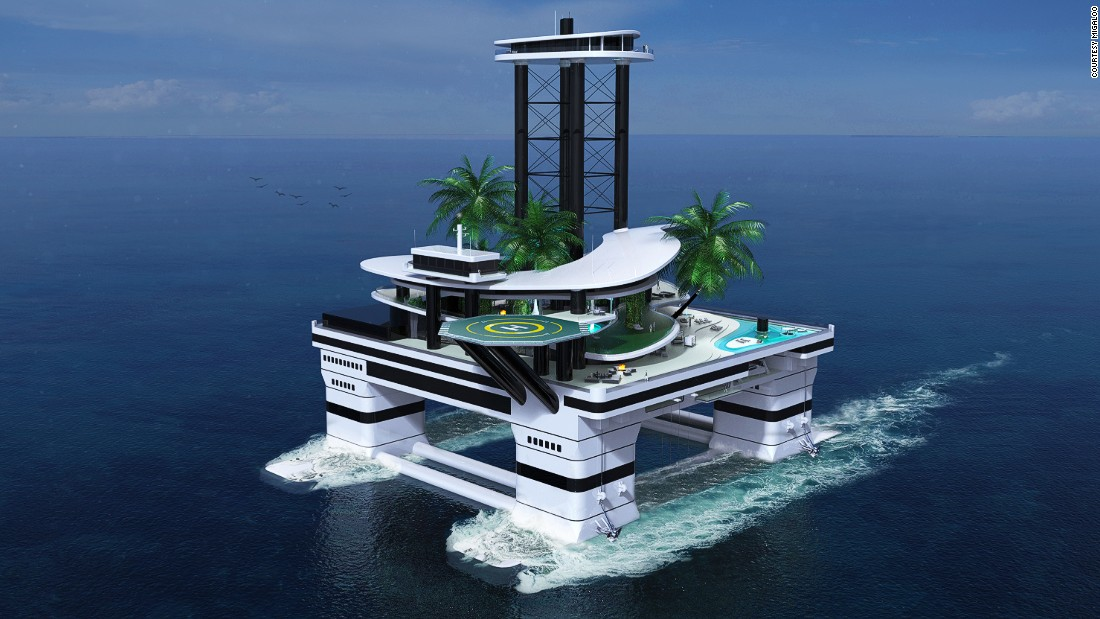 Yacht Island monaco yacht show 2015: the floating island you sail