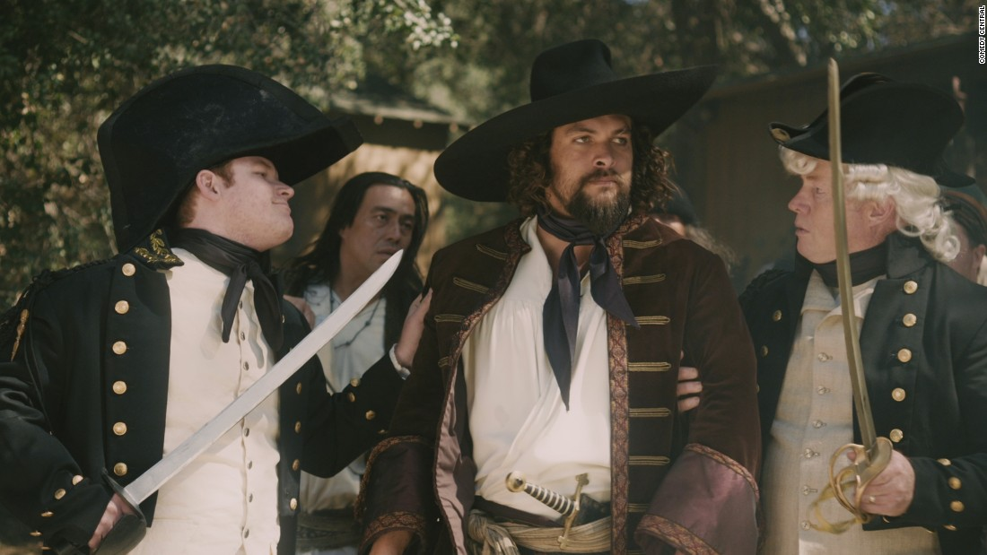 "Jason Momoa, who will soon be playing Aquaman, appeared as pirate Jean Lafitte, who helped Andrew Jackson liberate New Orleans from the British, in a recent episode of Comedy Central's ""Drunk History."""