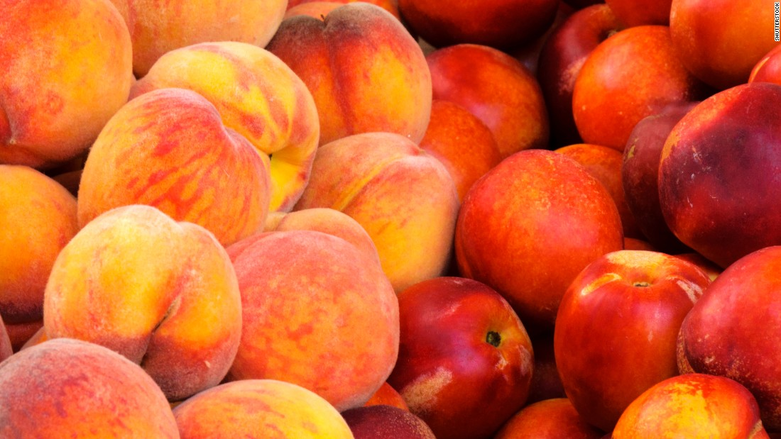 Peaches and nectarines account for 3.5% of children's fruit intake.