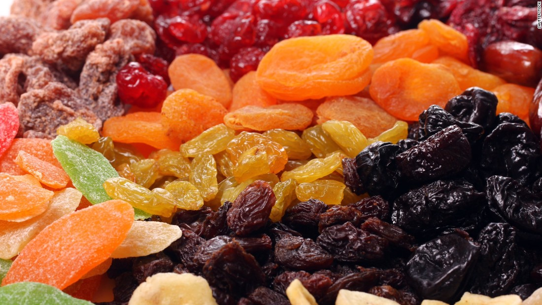 Dried fruit accounts for .6% of children's fruit intake, the study said.