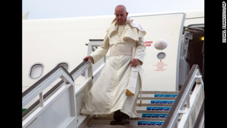 Pope Francis arrives in Cuba