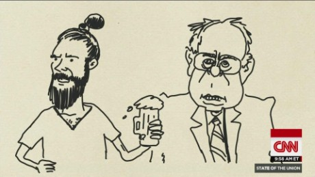 SOTU Tapper: State of the Cartoonion: Hipsters for Bernie_00003614