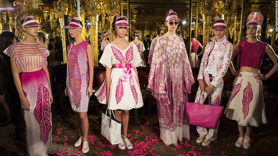 This season marked pink-haired 75-year-old Zandra Rhodes' first London Fashion Week show in almost a decade. Colorful isn't the half of it.