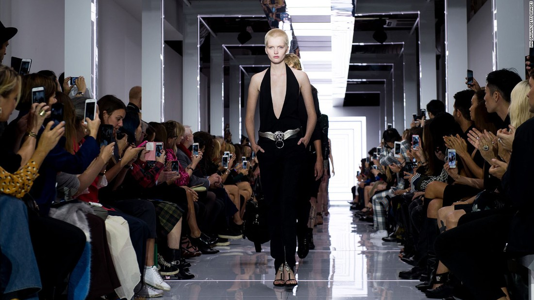 If you enjoyed Anthony Vaccarello's (almost) all-black collection for Versus Versace, you're in luck: the collection was available for purchase right after the show.
