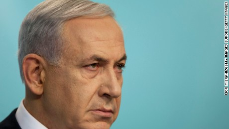 Israeli Prime Minister Benjamin Netanyahu speaks during a press conference on November 18, 2014 in Jerusalem, Israel. Netanyahu said incitement by the Palestinian Authority, Hamas and Islamic Jihad led to a terrorist attack in a Jerusalem synagogue, which killed four worshippers and wounded several others.