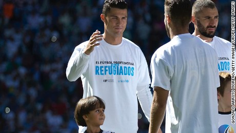 Zaid Mohsen was chosen as a mascot for soccer team Real Madrid.