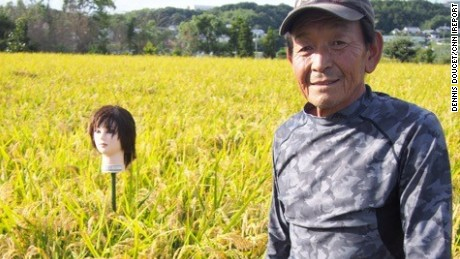 Japan S Creepy Mannequin Head Scarecrows Cnn Com