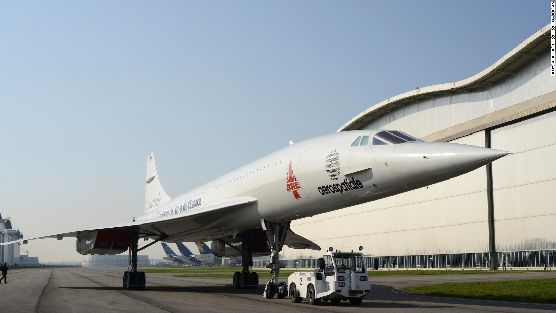 "This picture taken in March, 2014 shows the Concorde ""MSN1,"" as it's transferred to the Aeroscopia aviation museum in Blagnac, southwestern France. One of the first Concorde jetliners built in Toulouse, France, it made its last flight in April 1985."