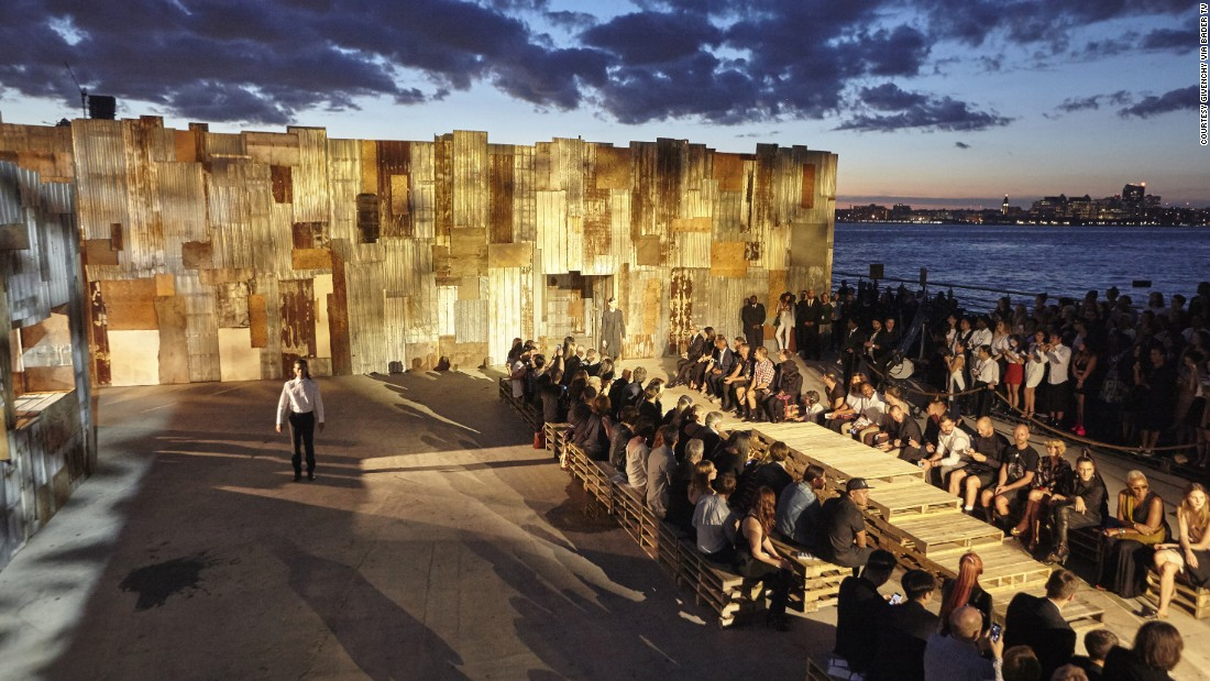 Staged on pier 26 on the Hudson river, the Givenchy SS16 show was the most expensive runway presentation of New York fashion week.