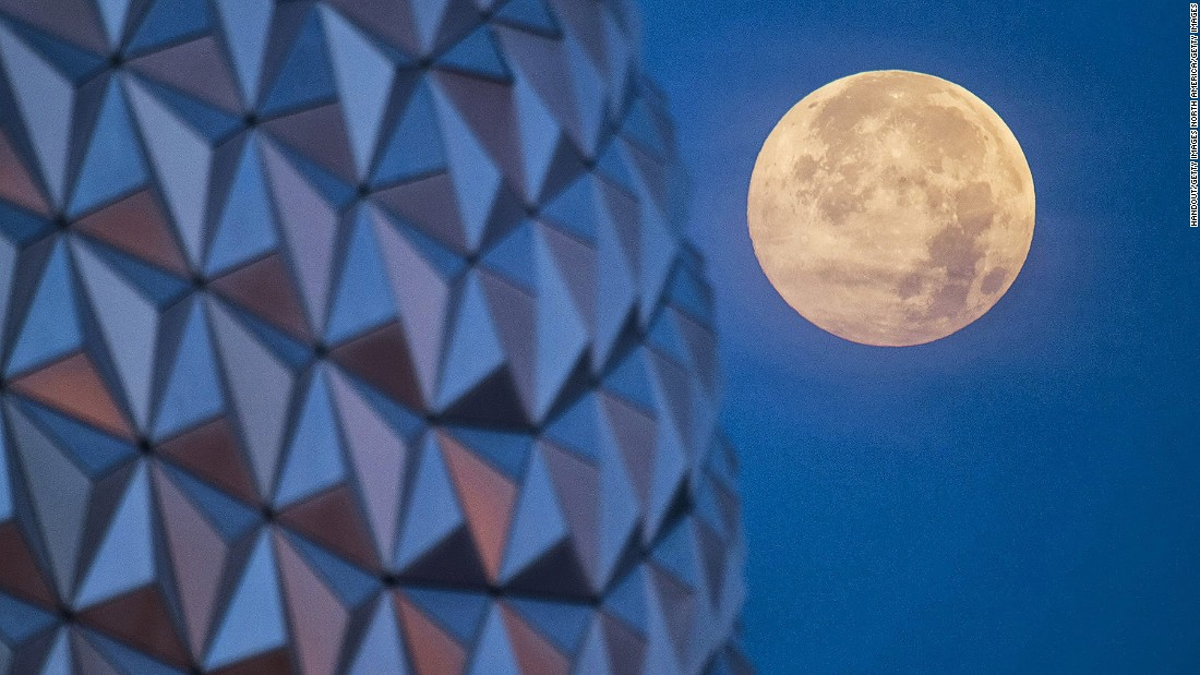 It's not rare to see a supermoon, or a total lunar eclipse. But it's the first time in the last 30 years that the two will happen on the same day. It won't happen again until 2033. (File image).