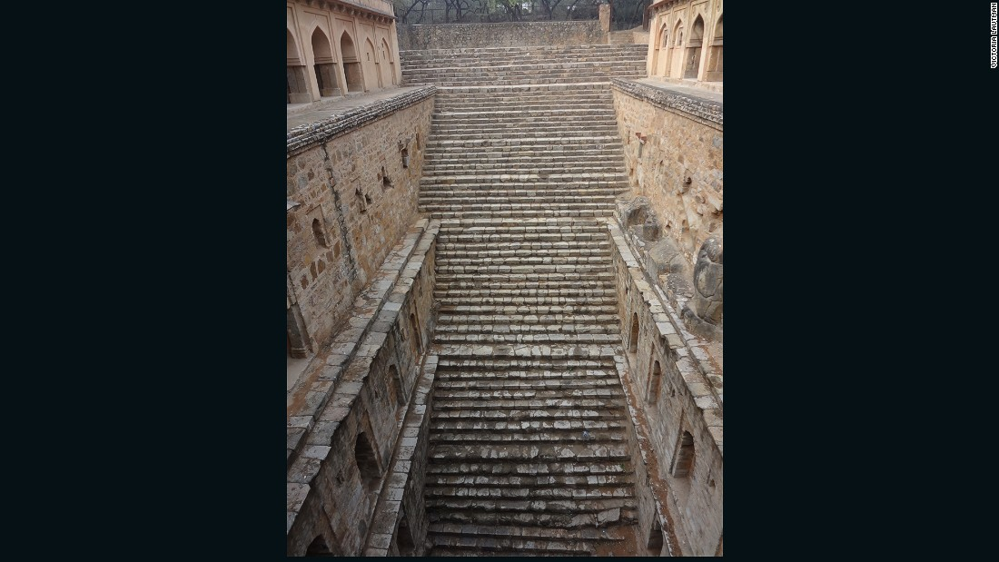 """There are a number of really wonderful stepwells in and around Delhi, some just a few yards from main tourist attractions, and yet even local guides have no idea that they exist or how to find them. Rajon ki baoli is located in the Mehrauli archeological park, itself a magical place studded with tombs and ruins. It's deep, in good shape, still harvests water, and its many levels of ""apartments make it such a fun place to explore."""