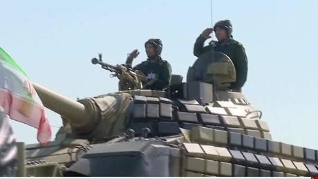 pleitgen iran military parade iran iraq war anniversary_00001104