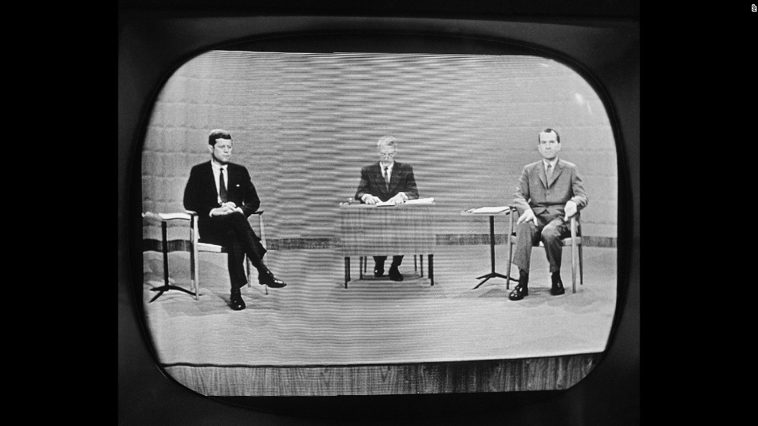 The first televised presidential debate took place on September 26, 1960, when U.S. Sen. John F. Kennedy, left, faced off against Vice President Richard Nixon, right. The debate was one of the most-watched broadcasts in U.S. history.