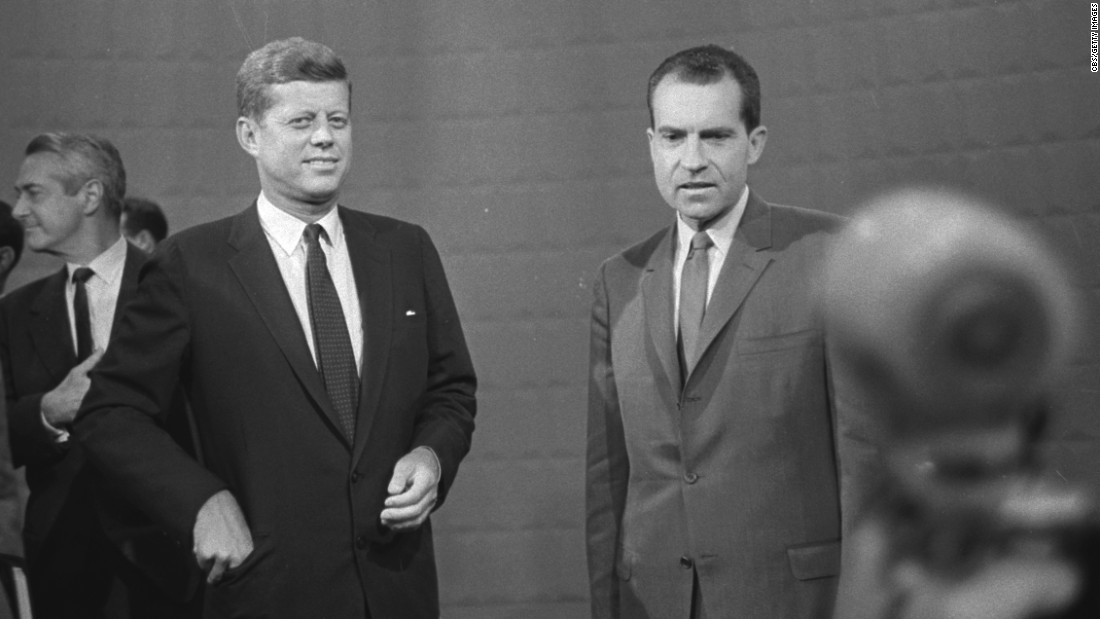 Much has been made about the two men's appearance and how that affected the perception of those who watched the debate on television. Nixon declined CBS' offer of makeup, instead choosing to wear a product called LazyShave to hide his five o'clock shadow. He was also still recovering from the flu and a knee injury. The telegenic Kennedy, meanwhile, did wear makeup, and he appeared rested and relaxed.