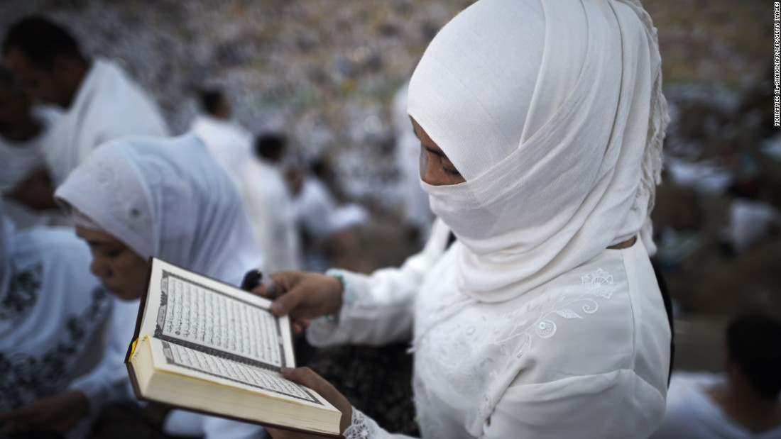 Pilgrims join in one of the Hajj rituals early September 23 on Mount Arafat. For most Muslims, the pilgrimage is the spiritual climax of their lives, with many saving for decades to be able to make the journey to Mecca.