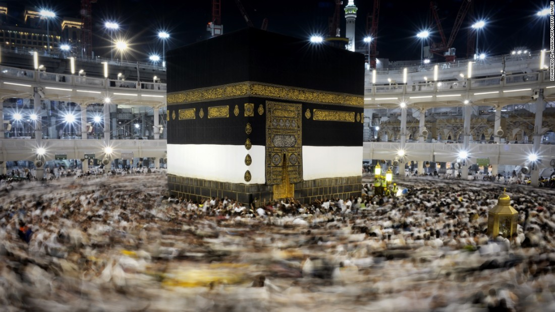 Muslim pilgrims circle counterclockwise the Kaaba at the Grand Mosque in Mecca on Monday. The pilgrimage, conducted over five days, includes detailed rituals including wearing a special garment that symbolizes human equality and unity before God, a procession around the Kaaba and the symbolic stoning of evil.