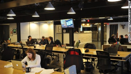 "A ""WeWork"" co-operative co-working space in Washington, DC. where software coders work on apps, while angel investors and mentors help budding entrepreneurs figure out strategy for their startups."