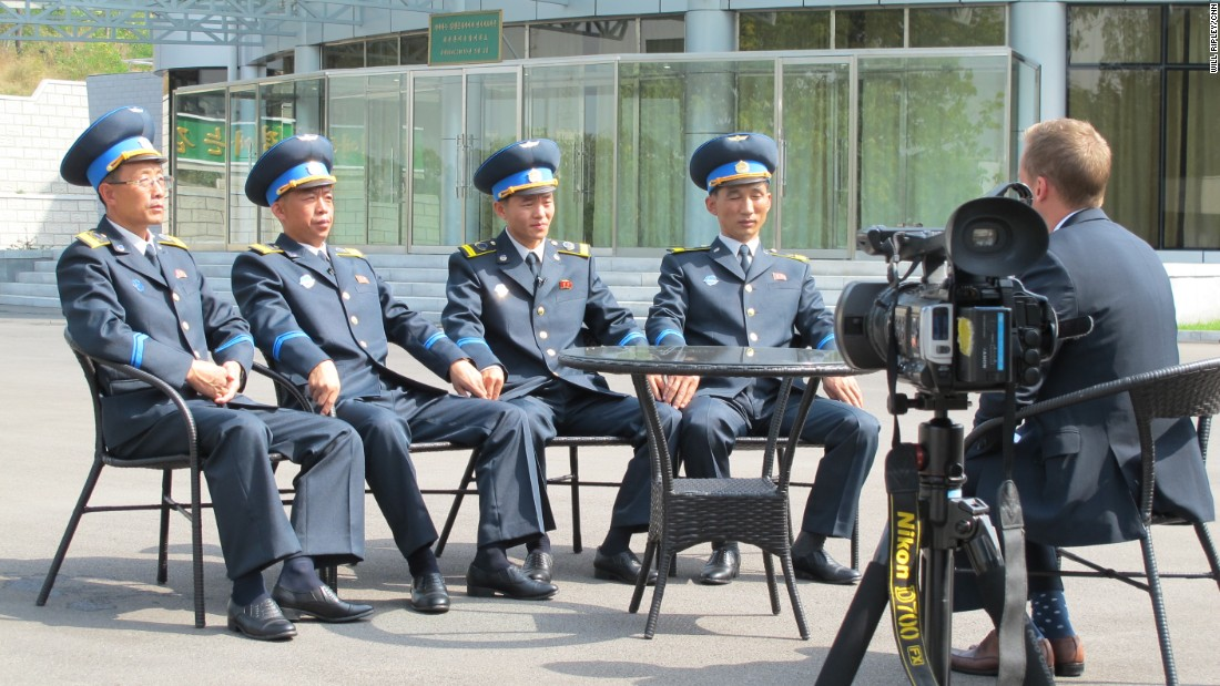 "CNN's Will Ripley speaks with scientists from North Korea's space agency, the National Aeronautical Development Association (NADA). In September 2015, <a href=""http://www.cnn.com/2015/09/23/asia/north-korea-space-center-ripley-schwarz/"">CNN was given exclusive access to the newly opened satellite control center.</a>"