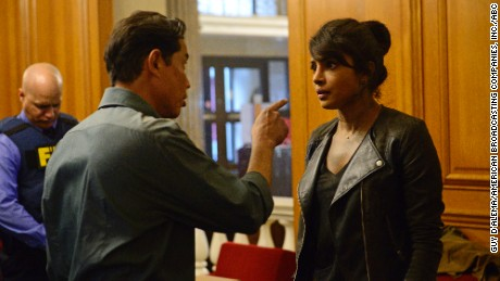 """Chopra's """"Quantico"""" character becomes an unlikely suspect in a terrorist attack on New York."""