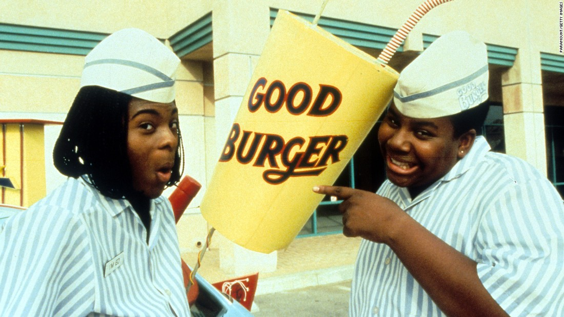 """Good Burger"" stars Kel Mitchell, left, and Kenan Thompson reunited for an appearance on ""The Tonight Show"" on September 23, performing in a sketch based on the 1997 film."