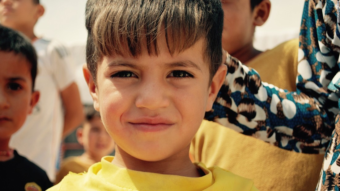 The Sharia Camp in Dohuk, Iraq houses 18,575 people in 4000 tents. It opened in 2014 and includes four schools -- two Arabic, two Kurdish. Many residents have escaped from their home in Sinjar after ISIS invaded and captured many Yazidis. Three-year-old Farhad Naifg is from Sinjar. He has been living in the camp for a year.<br />