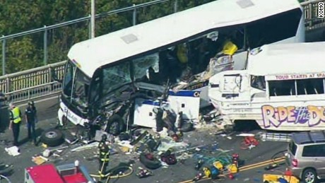 "SEATTLE - All lanes of the Highway 99 Aurora Bridge are closed after a ""Ride the Ducks' vehicle plowed into the side of a charter bus, officials said.   Several people were injured in the crash, according to unconfirmed reports.   Police and medics rushed to the scene at about 11:05 a.m. Thursday after receiving reports of a serious crash."
