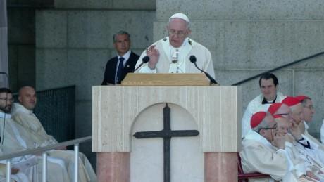 cnnee pkg vega junipero saint pope visit us_00013606