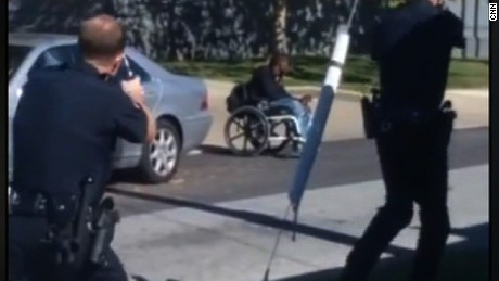 Police shoot man in wheelchair