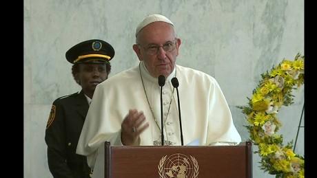 cnnee brk pope sot onu arrive francis nueva york _00000000