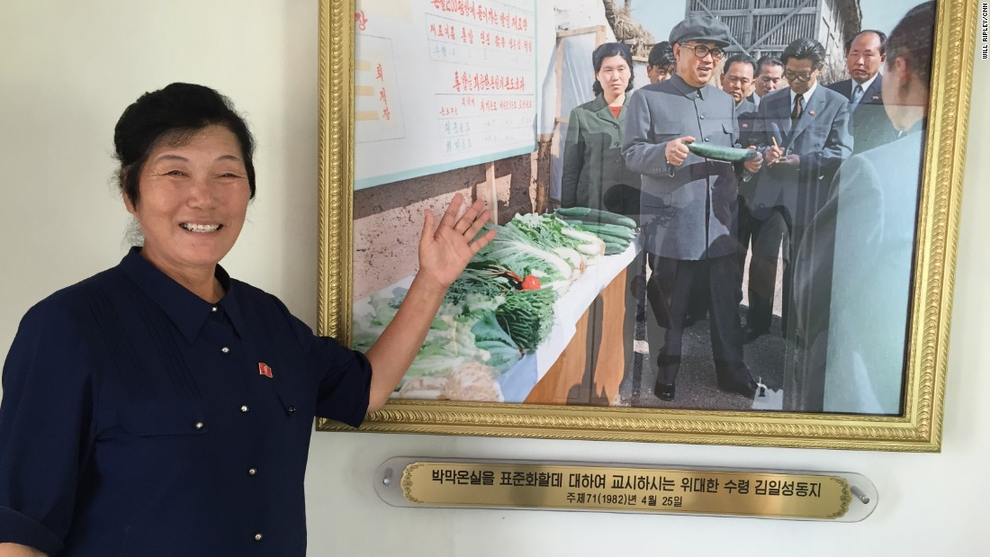 Farm manager Kim Myong Jon is something of a national celebrity in North Korea. During the past 40 years, she's met with three of the country's leaders.