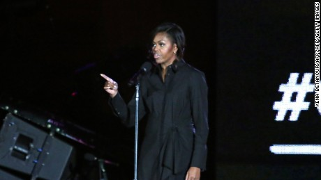 Michelle Obama highlights education with #62milliongirls