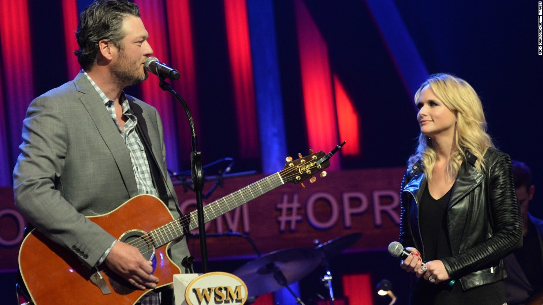 "Country stars Blake Shelton and Miranda Lambert stunned fans when they announced in July that they were divorcing after four years of marriage. There was much <a href=""http://www.cnn.com/2015/07/21/entertainment/blake-shelton-miranda-lambert-fans-feat/"">sadness on social media over the split. </a>"