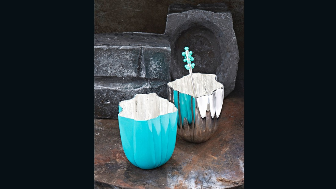 "Heritage Mexican silversmiths brand <a href=""https://www.tane.com.mx/tane-home/"" target=""_blank"">Tane</a> asked London-based designer <a href=""http://www.bodosperlein.com/"" target=""_blank"">Bodo Sperlein</a> to come on board and inject some new life into their historic company. The results, shown in antiques and fine art emporium <a href=""http://www.mallettantiques.com/"" target=""_blank"">Mallett</a> on Dover Street, were superlative and saw Sperlein combine silver with other materials - such as hardwood, volcanic stone and porcelain. Pictured are his new Symphony range of beakers in silver and nano-ceramic for colour, a first in the world of silversmithing."
