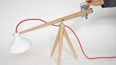 Balance lamp designed by Yuue.
