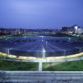 Berlin-Velodrome and Olympic Swimming Pool-∏Georges Fessy-Dominique Perrault Architecture-Adagp