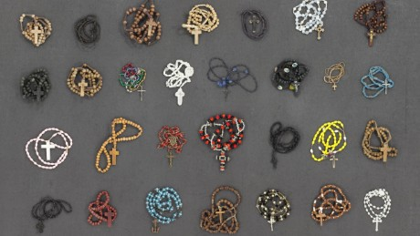 Personal items such as rosaries are considered potentially lethal, non-essential property that is discarded during intake.
