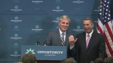 Boehner McCarthy GOP House Leadership weekly meeting tan good man Republican party _00000116