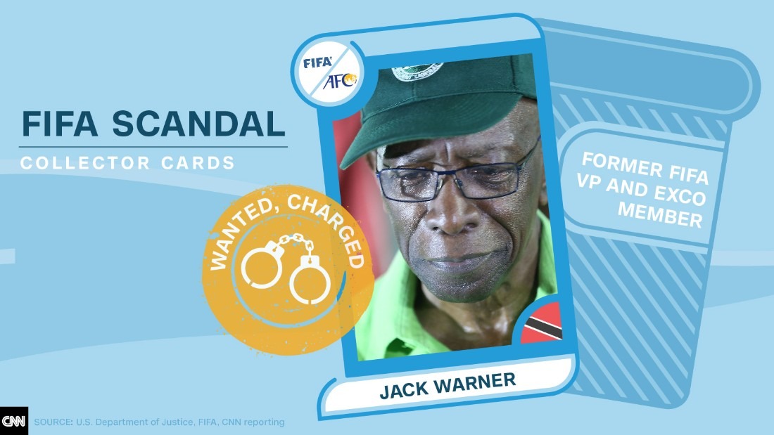 FIFA scandal collector cards Jack Warner